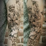 Diana Severinenko half sleeve tattoo design