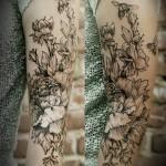 Diana Severinenko half sleeve tattoo design