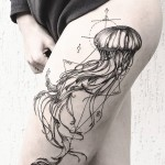 Diana Severinenko jellyfish tattoo design