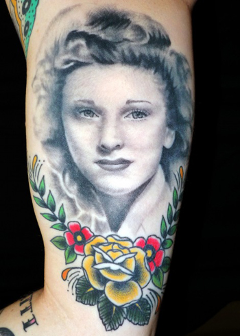 commemorative design of tattoo portrait