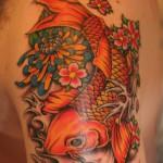 Small koi fish tattoo