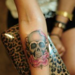 Girly skull tattoo