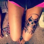 Garter Skull tattoo