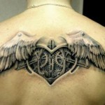 Steampunk heart tattoo