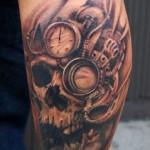 steampunk tattoo of skull