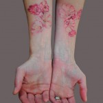 Hands Cherry Blossom Tattoo