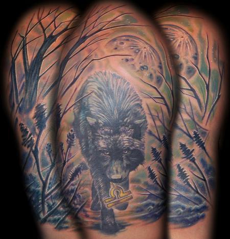 Fullsholder Dark Wolf Tattoo