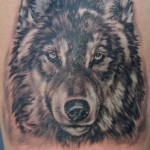 Detailed Wolf Tattoo