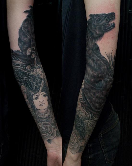 Black Wolf Tattoo