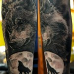 Best Sleeve Wolf Tattoo