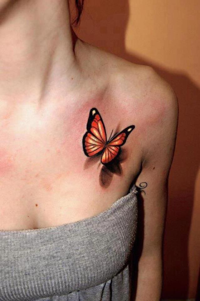 Butterfly Tattoo in 3D