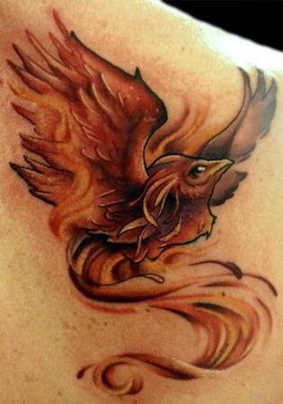 Phoenix Tattoo on Sholder