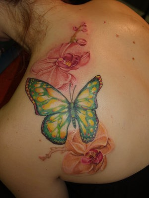 Butterfly Tattoo on Upper back