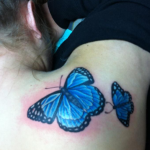 Blue Butterfly Tattoo