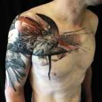 Abstract Sleeve Eagle Tattoo