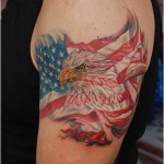 USA Flag Eagle Tattoo