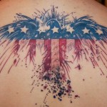 US Flag Eagle Tattoo