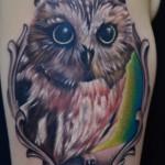 Cute owl tattoo design
