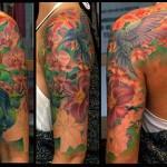 hummingbird tattoo by electric linda
