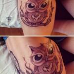 Owl tattoo for girls