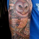 Ryan Mason owl tattoo