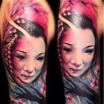 Carl Grace geisha tattoo design