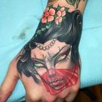 Geisha tattoo by Dusty Nea
