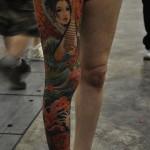geisha tattoo on full leg