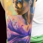 geisha tattoo by Adam Kremer
