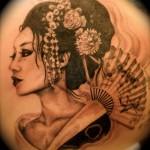 Geisha tattoo by Maggie Shields