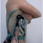 feminine geisha tattoo