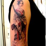 geisha tattoo simple style