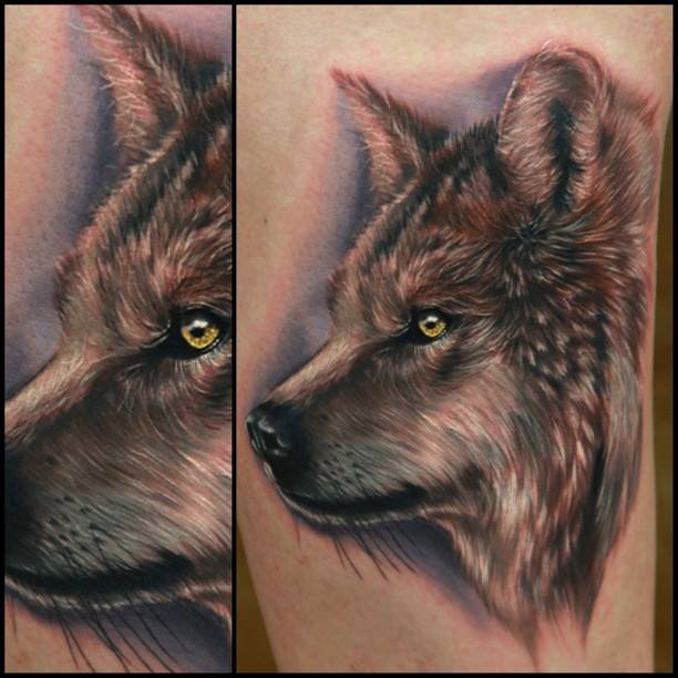 Rich Pineda Wolf Tattoo