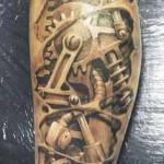 biomechanical tattoo awesome design