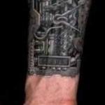 hand biomechanical tattoo
