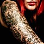 Biomechanical tattoo on sleeve