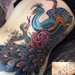 Valerie Vargas peacock tattoo coverup