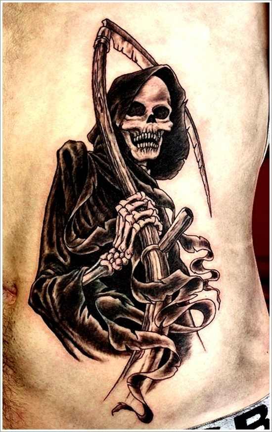 grim reaper tattoo 45