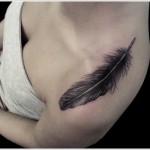 black feather tattoo design