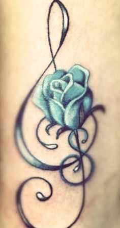 blue rose tattoo design