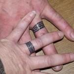 celtic knot wedding ring tattoo design