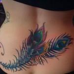 complex feather tattoo design
