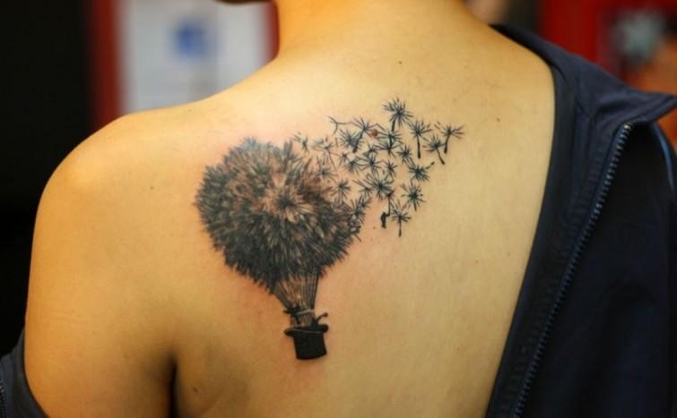 creative dandelion tattoo design