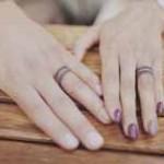 cute wedding ring tattoo design