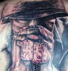 awesome dog tag military tattoo design