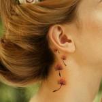ear dandelion tattoo design