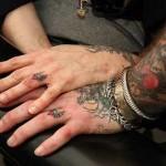 matching wedding ring tattoo design
