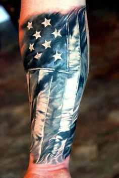 flag military tattoo design