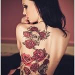 fullback rose tattoo design