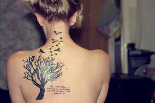 girl quote tattoo design